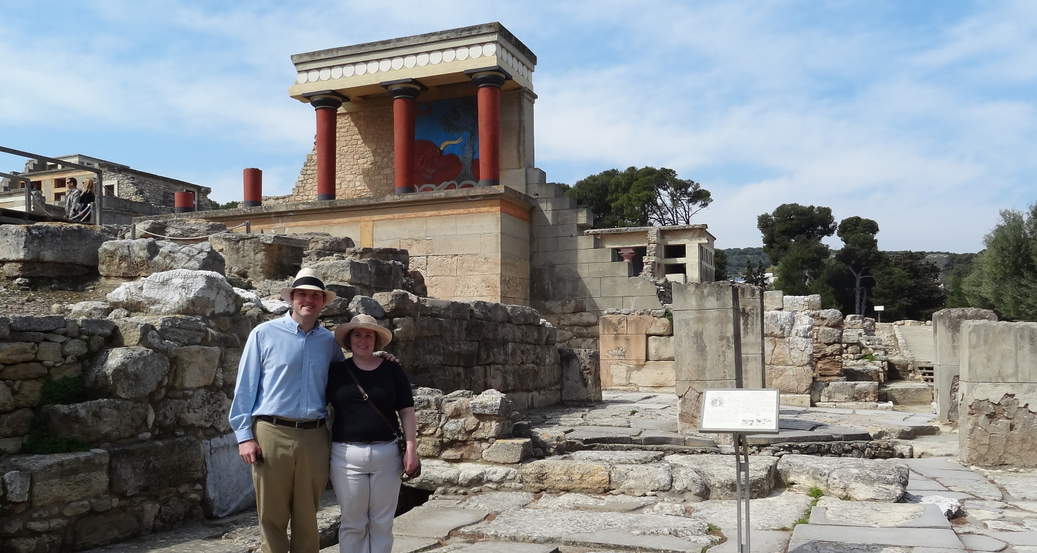 In the ruins at Knossos, Crete